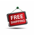 Free shipping icon button vector