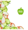 Healthy food slice of apple background vector