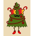 Hipster new year tree with star glasses and vector