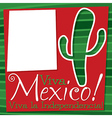 Cinco de mayo cactus card in format vector