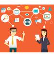 Concept of social media vector