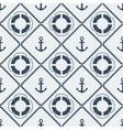 Anchors lifebuoy seamless pattern vector