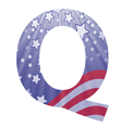 American letter q vector