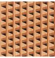 Wooden building vector
