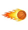 Flaming basketball vector