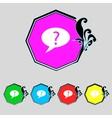Question mark sign icon help speech bubble symbol vector