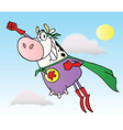 Super cow cartoon character vector