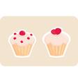 Sweet retro cupcakes silhouettes vector