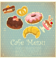 Vintage cover cafe vector