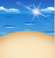 Beautiful summer postcard with beach vector