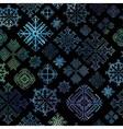 Seamless snowflake winter watercolor christmas bac vector