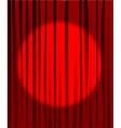 Curtain spotlight vector