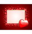 Heart with card frame vector