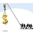 Money teamwork vector