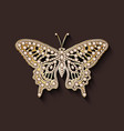 Pearl brooch butterfly vector