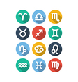 Zodiac symbol icons flat style vector