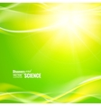 Abstract green lights vector