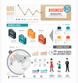 Infographic business world template design vector