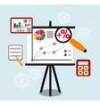 Flat design infographic concept with icons set of vector