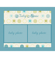 Baby boy arrival card with frame vector