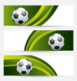 Set football cards with place for your text vector