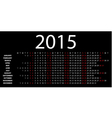 Horizontal calendar for 2015 vector
