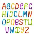 Rainbow ribbon alphabet vector