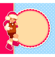 Christmas card with cartoon santa vector