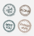 Collection of premium quality labels vintage vector