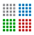 Square web buttons vector