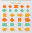 Set of various paper stickers vector
