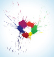 Colorful ink blots ring vector