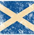 Scotland retro flag vector