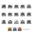 E mail icons vector