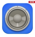 Realistic sound load speaker icon vector