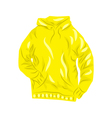 Yellow hoody vector