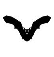 Silhouette bat vector