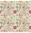 Vintage floral peacock pattern vector