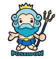 The sea and the water god poseidon vector