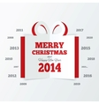 Christmas gift box cut the paper new year 2014 vector