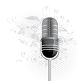 Classic microphone graphic vector