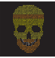 Abstract binary skull vector