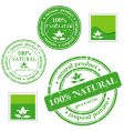 Natural product stamp vector