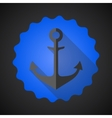 Antique travel anchor flat icon vector