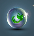 Abstract background with ball and plant vector