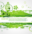 Green color nature background vector