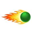 Flaming bowling ball vector