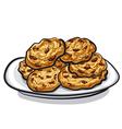 Oatmeals cookie vector