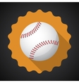 Sport ball baseball flat icon background vector