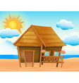House on the beach vector